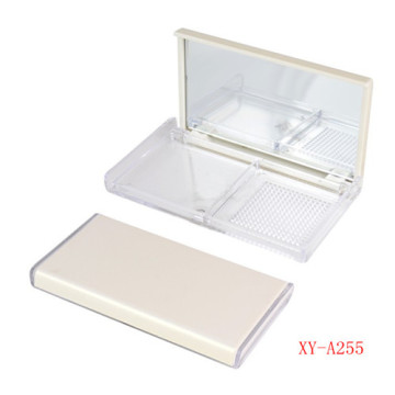 Rectangle Plastic Compact Powder Container With Mirror
