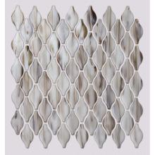 Design de ladrilho de piso em mosaico de vidro marrom para banheiro