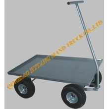 Steel garden cart with pneumatic wheel