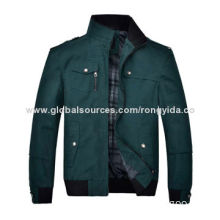 2014 Men's Cotton Jacket for Spring and Autumn, New Design