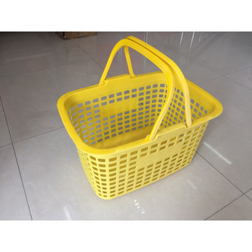 Supermarket Plastic Shopping Baskets with Handles