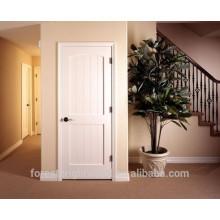 Puerta de madera moldeada de la escalera del color blanco con el hardware, puerta de la sala de almacenamiento con el hardware S10-1009