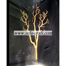 Artificial Gold Color Dry Tree Branches For Centerpiece Decoration 80CM