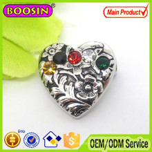 2015 European Exported Crystal Heart Magnetic Brooch