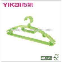 Conjunto de 5 pcs cabides de plástico com tie rack, barra de calças e entalhes