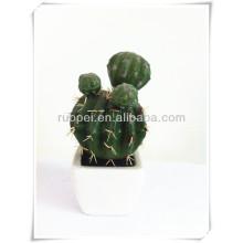 Réaliste mini cactus artificiel en pot bonsaï fabriqué en Chine