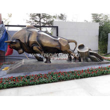 Bronze Bull Sculpture For Garden Decoration