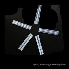 Tuyau thermorétractable transparent à hautes températures de PTFE