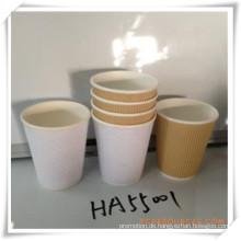 Wellpappbecher Pappbecher Einwegbecher für Werbegeschenk (HA55001)