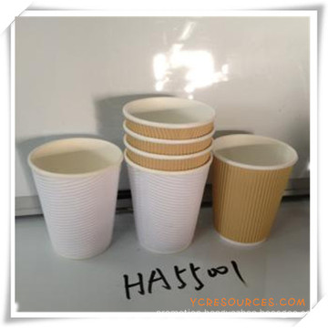 Corrugated Cup Paper Cup Disposable Cup for Promotional Gift (HA55001)