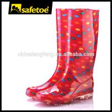 Modische Damen Kunststoff Wellington Dame Gummi Regen Stiefel W-6040B