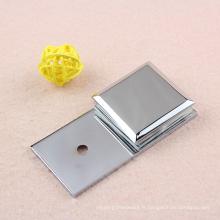 Produit de serrage de verre en laiton avec traitement de surface en chrome
