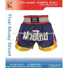 Muay Thai Boxing Shorts Kick Boxing Trunks Satin