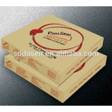 6-25 inch E flute W/W corrugated paper made OEM logo printed pizza box