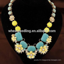 European and American exaggerated lady daisy necklace