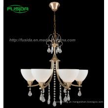 2013 Iluminação de cristal do candelabro do projeto europeu com vidro (D-8147/5)