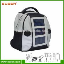 Mochila de painel solar ao ar livre de alta qualidade 1680D