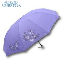OEM ODM Zhejiang Hangzhou tout type de parapluie pluie Gear 28 polegada 10K Extra Large Monsoon Traget marché parapluie 3 pli Yiwu