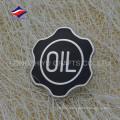 Новый модный черный цвет жесткий эмаль значок с логотипом