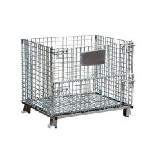 Foldable Customized Cage, Wire Mesh Container,  Warehouse Steel Cage Storage Cage/
