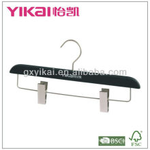 Rubber Coated Wooden Hanger for Skirt or Trousers