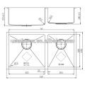 stainless steel triple bowl stainless steel sink