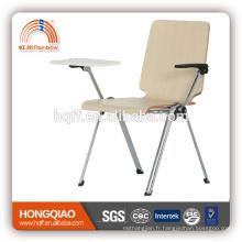 CV-B191B-3 base en métal chromé avec chaise d'école d'écriture