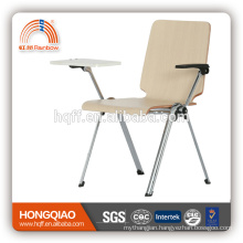 CV-B191B-3 chrome metal base with writing board school chair