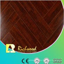 Commercial 12.3mm Mirror Walnut Sound Absorbing Laminate Flooring