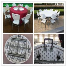 Dia. 152 centímetros Banquete Interno Multifuncional Catering Jantar Folding em meia mesa redonda (HQ-ZY152)