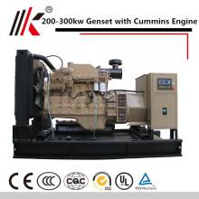 С CUMMINS двигателя МОЛЧКОМ genset ЗВУКОИЗОЛЯЦИОННЫЙ ТЕПЛОВОЗНЫЙ генератор 200kw цена в Индии