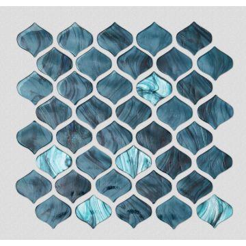 Green Glass Mosaic Tiles For Bathroom Stylish Design