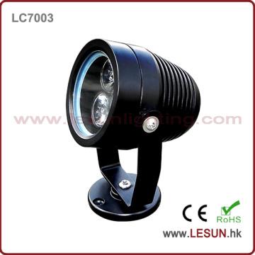 Luz subaquática de prata / preta da associação do diodo emissor de luz de 3W IP65 para a iluminação exterior LC7003