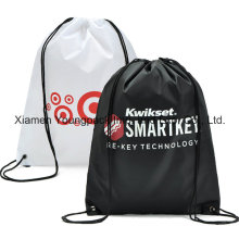 Promotional Custom Royal Blue Waterproof 210d Polyester Drawstring Bag