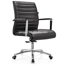 Office executive office chair with pu leather/chrome armrest