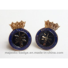 Soft Enamel Gold Plated Royal Navy Cuff Link