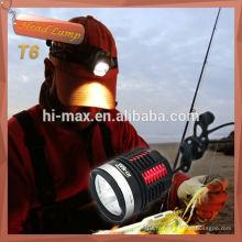 Modèle haute / moyenne / stroboscopique CREE XM-L U3 * 3 lampe tête led 3000lumen
