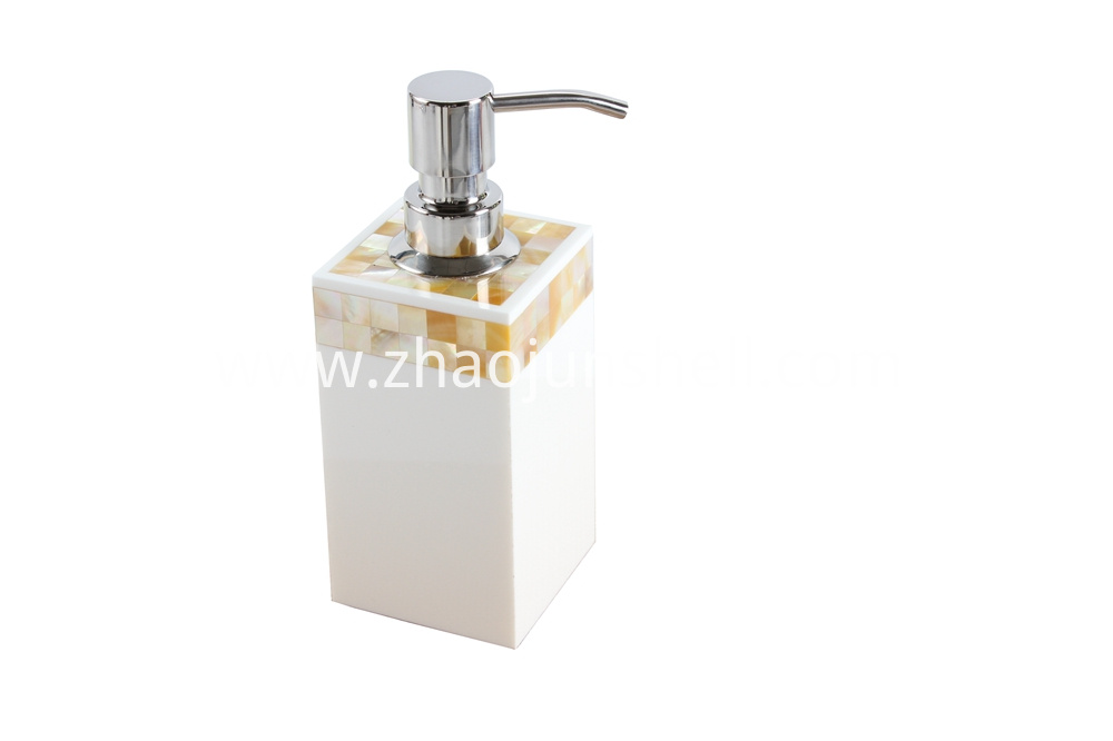 mother of pearl soap dispenser