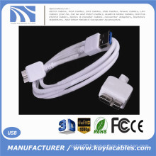 Premium Quality white 3ft 1m USB 3.0 A Male to Micro B Male Cable High Speed