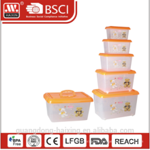 пластмассовые для хранения контейнера w/колеса 4.8L/8.5L/15L/25L/43L
