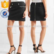 Nova Moda Preto Neoprene Mini Saia Diária DEM / DOM Fabricação Atacado Moda Feminina Vestuário (TA5161S)