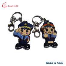 Personnalisés de haute qualité Police Keychain de PVC souple