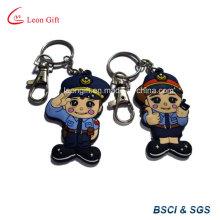 Personalizado de alta qualidade polícia Keychain de PVC macio