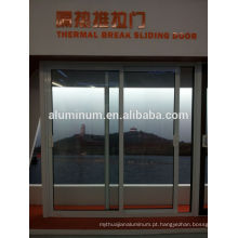 Porta de correr de alumínio de vidro de ruptura térmica