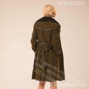Reversibile in Australia Merino Shearling Coat per le donne