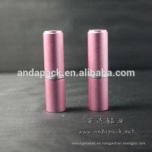 Moda lápiz labial rosa tubos cosméticos envases