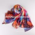 Chine Wholesale Écran imprimé numérique Belle écharpe en mousseline de soie Écharpe en soie pour dame