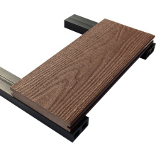 Tablero compuesto de la terraza de bambú del suelo al aire libre azul gris hueco