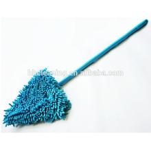 Mop пыли microfiber на деревянный пол, вытирая