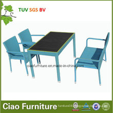 Wholesale Rattan Furniture Outdoor Wicker Chair and Table with Plastic Wood